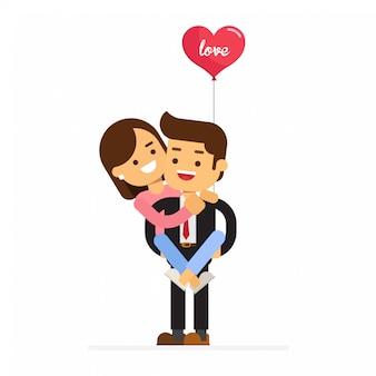 Mann und frau, die sich liebevoll umarmen