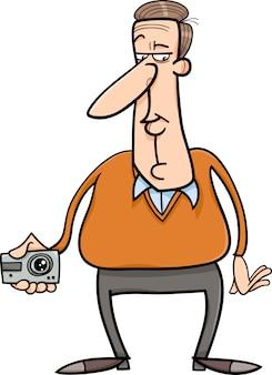 Mann und versteckte kamera cartoon