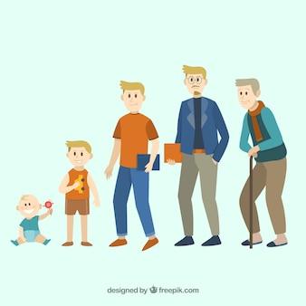 Mann verschiedenen alters