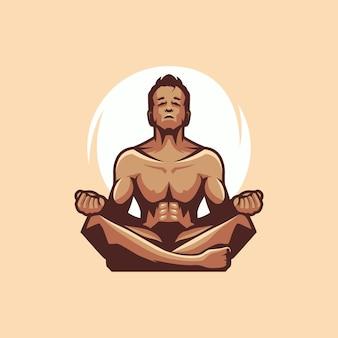 Mann yoga logo mit