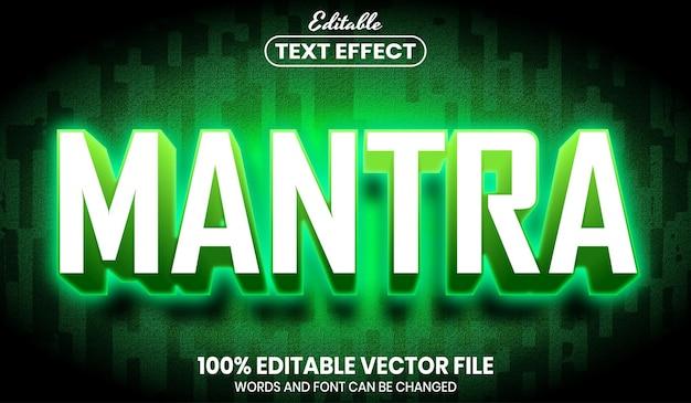 Mantra-text, bearbeitbarer texteffekt im schriftstil