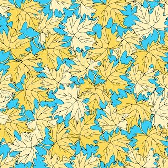 Maple blätter herbst seamless pattern vector illustration