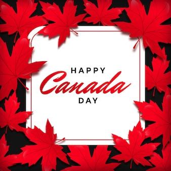 Maple leaf frame für kanada tag