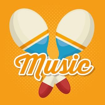 Maracas instrument musikalische ikone