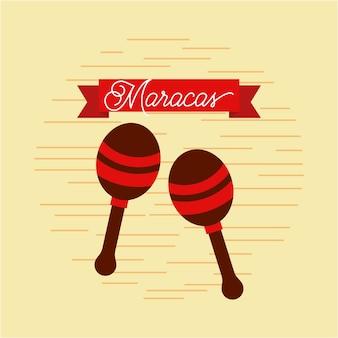 Maracas-jazzinstrument-musikfestivalfeier