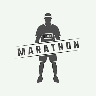 Marathon oder lauflogo