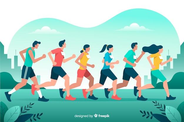 Marathon rennen