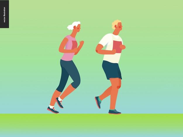 Marathon-renngruppe