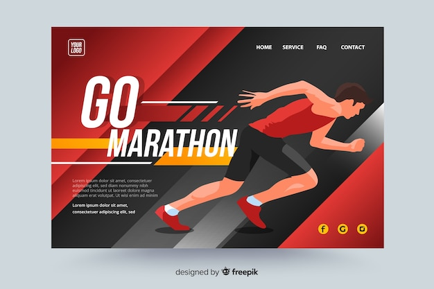 Marathon sport landing page
