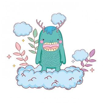 Märchen-Monster mit Wolken-Charakter