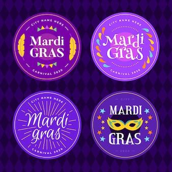 Mardi gras abzeichen pack