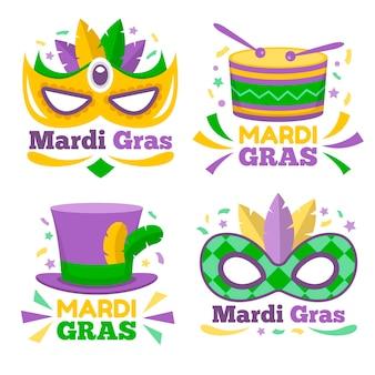 Mardi gras abzeichen sammlung