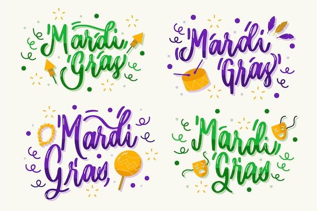 Mardi gras etikettensammlung