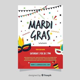 Mardi gras-flyer