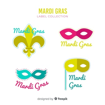 Mardi gras label kollektion