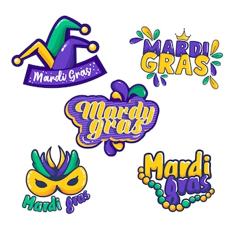 Mardi gras label pack