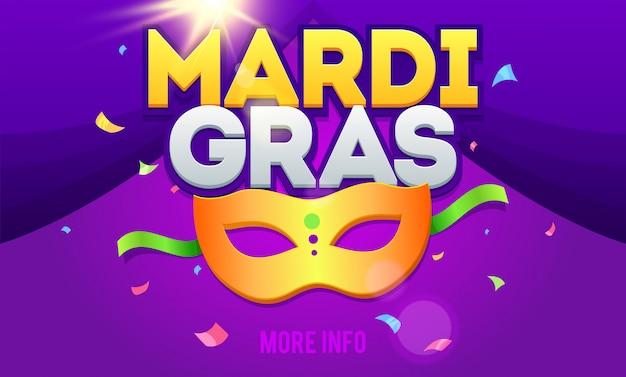 Mardi gras party banner