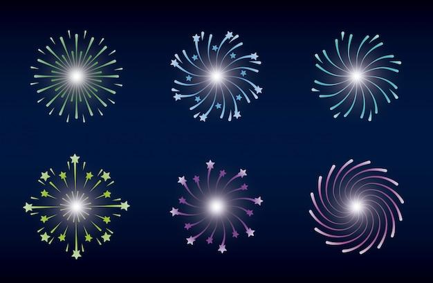 Mardi gras set splash lights