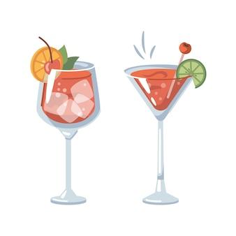 Margarita oder bloody marry cocktail mit kirsche