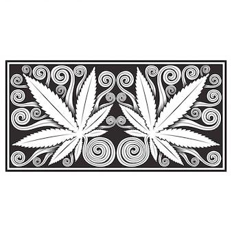 Marihuana cannabis blätter