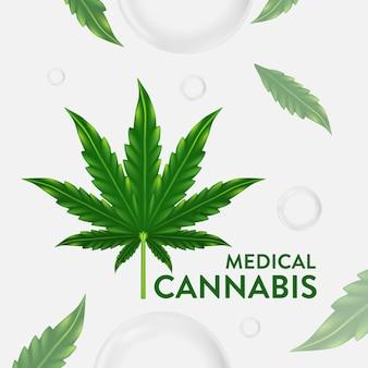 Marihuana, cannabisblattillustrationsillustration, natürliches essenzöl