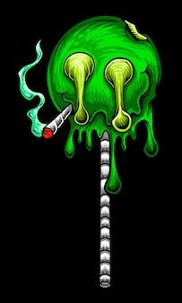 Marihuana green lollipop raucher joint
