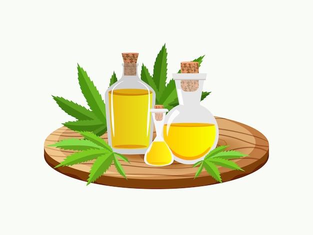 Marihuana-konzept und cannabisöl für medizinische zwecke.
