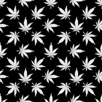 Marihuana-muster-vektor-illustration