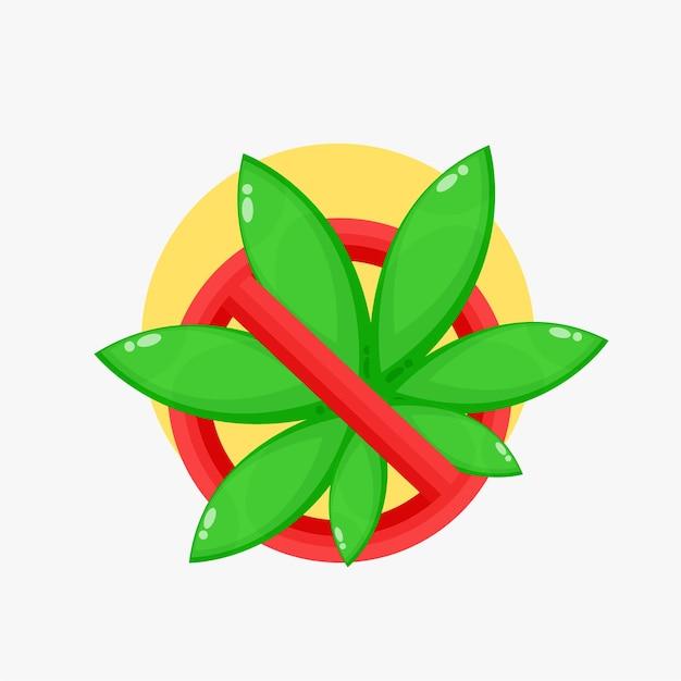 Marihuana-stopp-schild-symbol