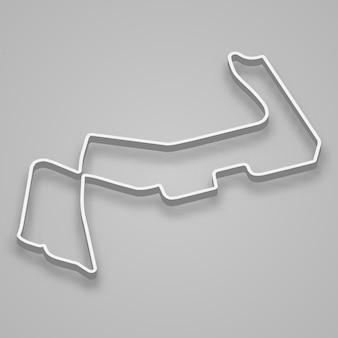 Marina bay circuit für motorsport und autosport. grand-prix-rennstrecke von singapur.