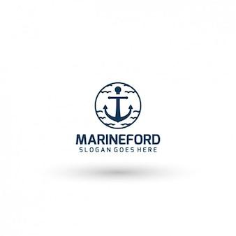 Marine company logo-vorlage