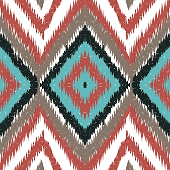 Marine elegant tribal. kornblumen-batik-vektor-nahtloses muster