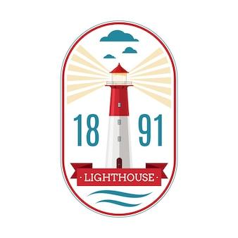 Marine leuchtturm abzeichen