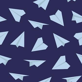 Marinemuster von papierflugzeugen.