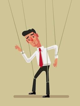 Marionettenangestellter büroangestellter mann