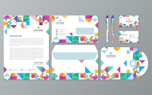 Markenbriefpapier mit farbverlaufsmosaik
