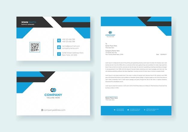Markenidentität-briefpapier-set premium-vektor