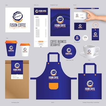 Markenidentität vorlagen für kaffee marke