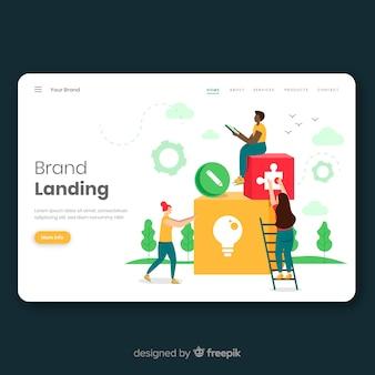 Markenkonzept für landingpage