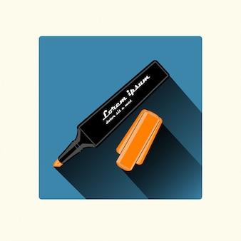 Marker flaches design
