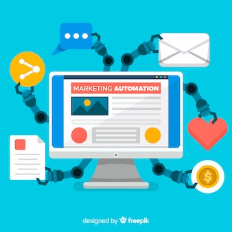 Marketing automation hintergrund