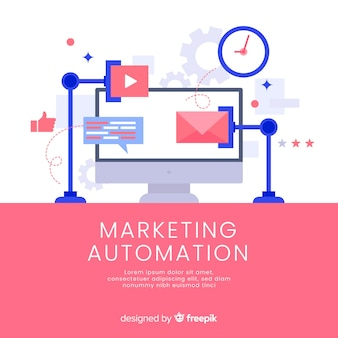 Marketing automation hintergrundvorlage