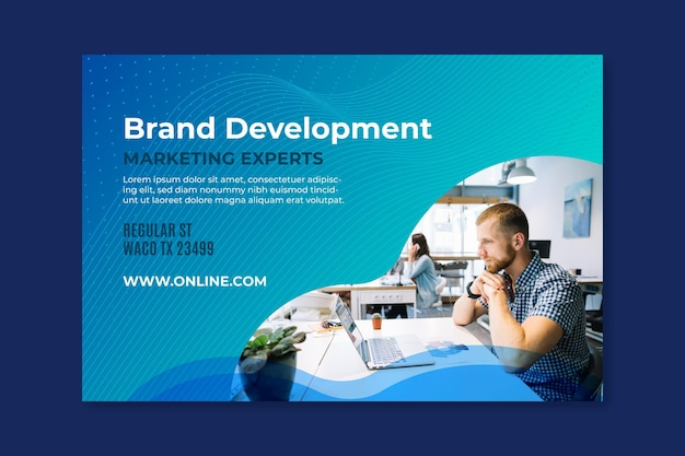 Marketing business banner vorlage