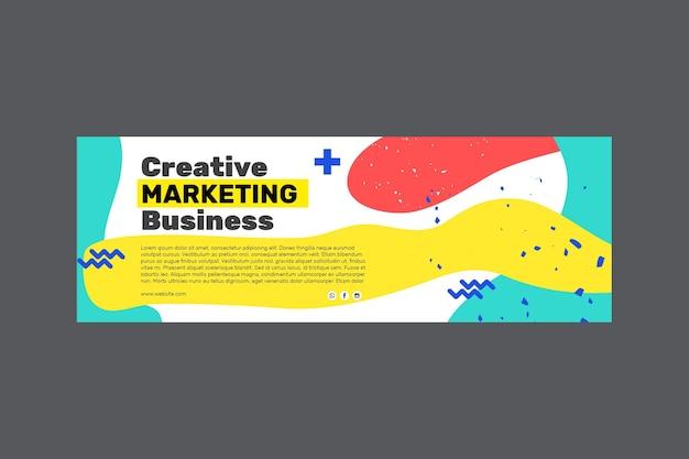 Marketing business banner Kostenlosen Vektoren