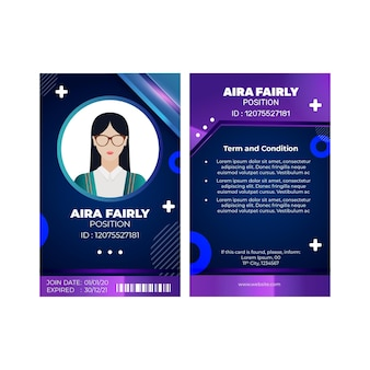 Marketing business id card vorlage