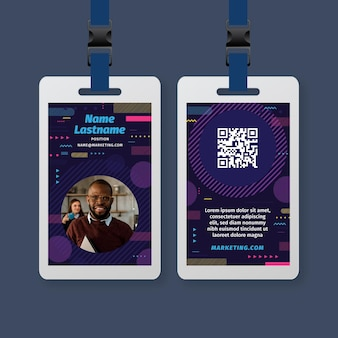 Marketing business id card vorlage