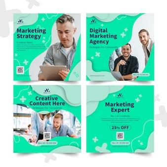 Marketing business instagram beiträge sammlung