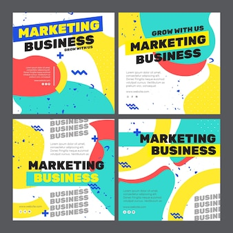 Marketing business instagram post Kostenlosen Vektoren
