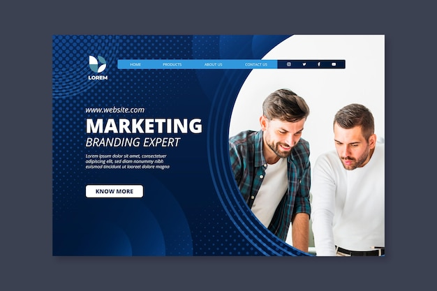 Marketing business landing page vorlage