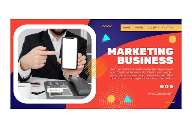 Marketing business landing page vorlage